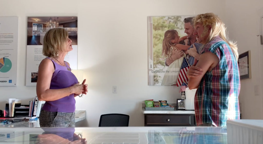 """""""Joe Dirt"""" Stops by Culpepper Landing and Gets the Full Tour from Jaylene at Eagle Construction"""