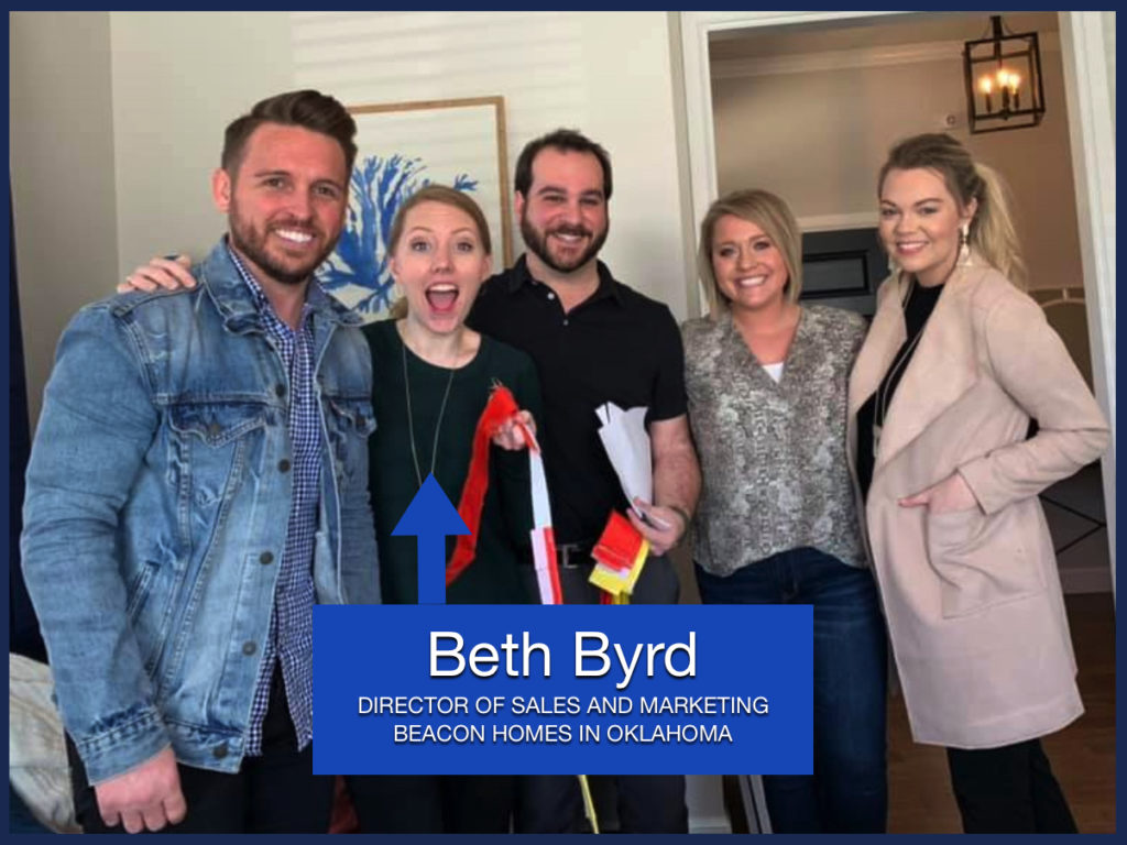 Beth Byrd is our New Home Sales Specialist of the Month