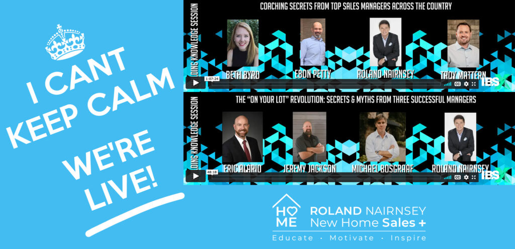Two Programs from Roland Nairnsey, New Home Sales Plus Are Live at the Virtual International Builders' Show 2021